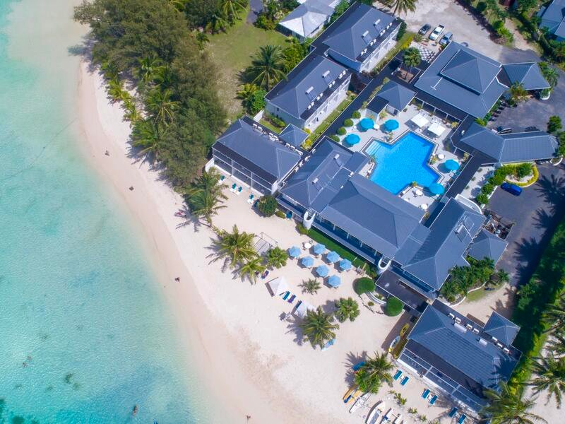 Muri Beach Club Hotel Aerial Shot