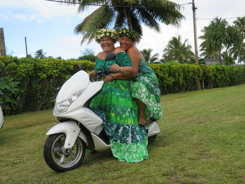 Aunties on Electric Bikes