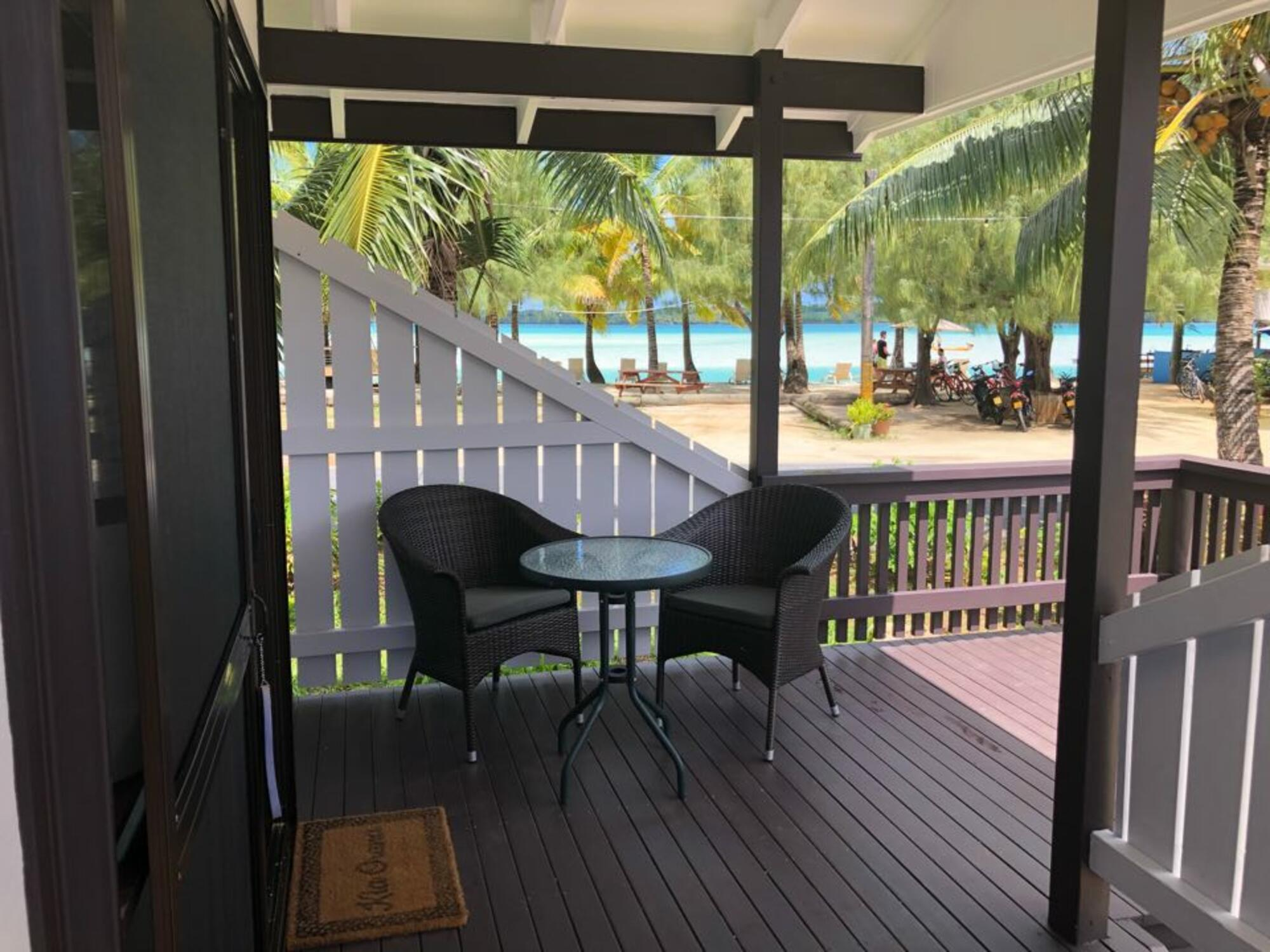 Aitutaki Village - Rm 1 Outdoor Decking
