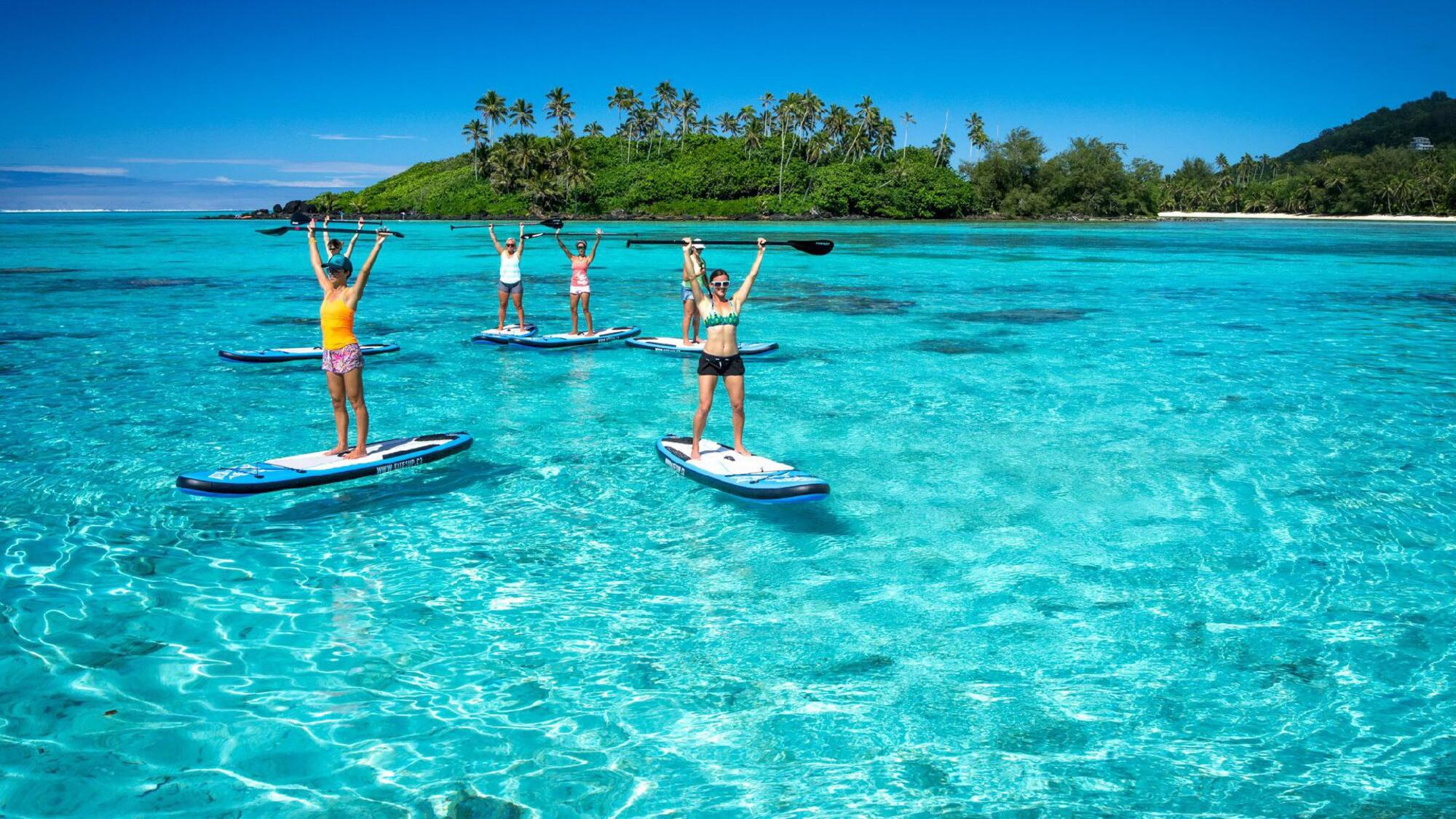 Lagoon Explorer SUP & Snorkel Tour with KiteSUP Watersports Cook Islands