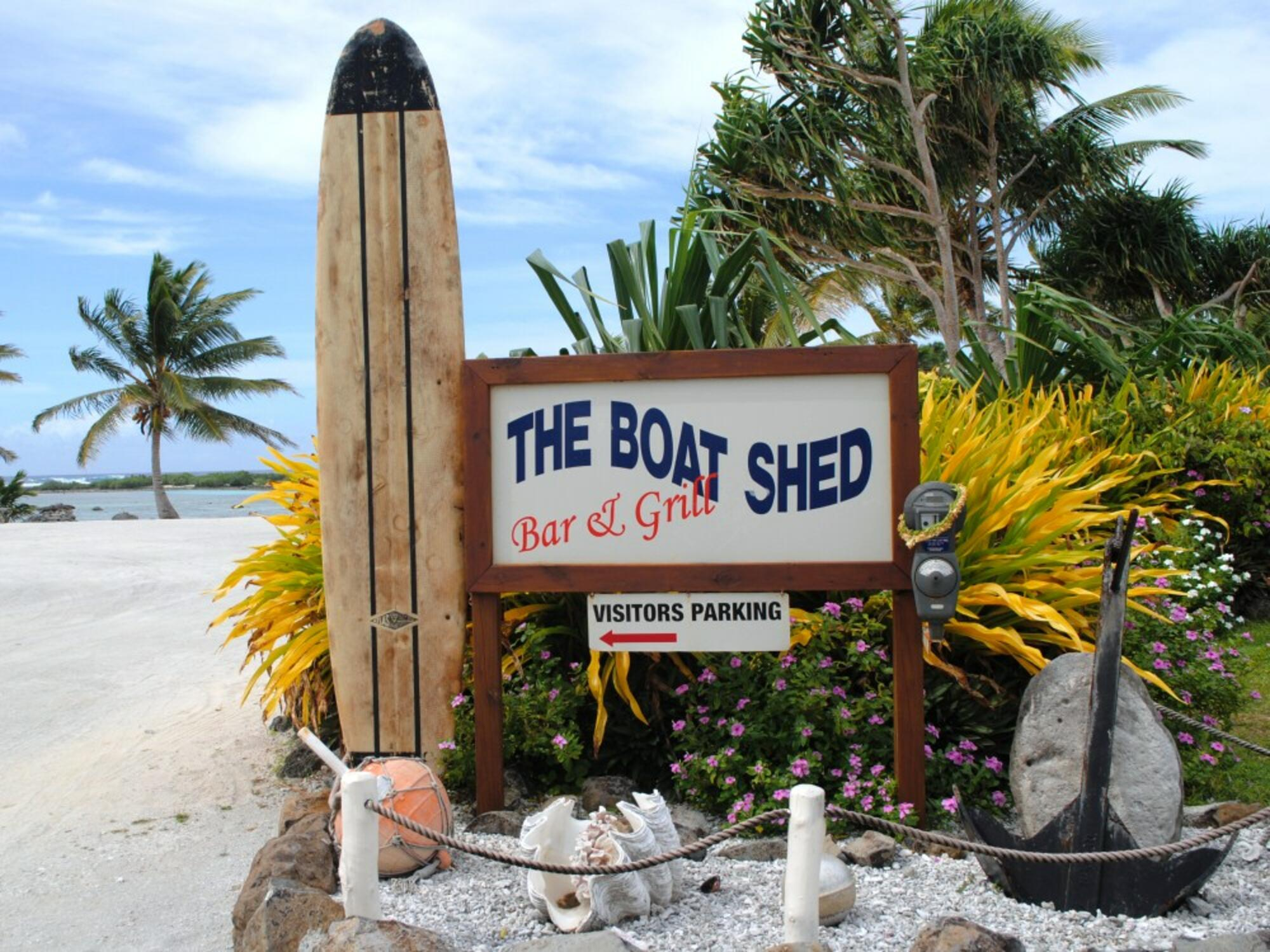 Dine at The Boat Shed Bar & Grill in Aitutaki