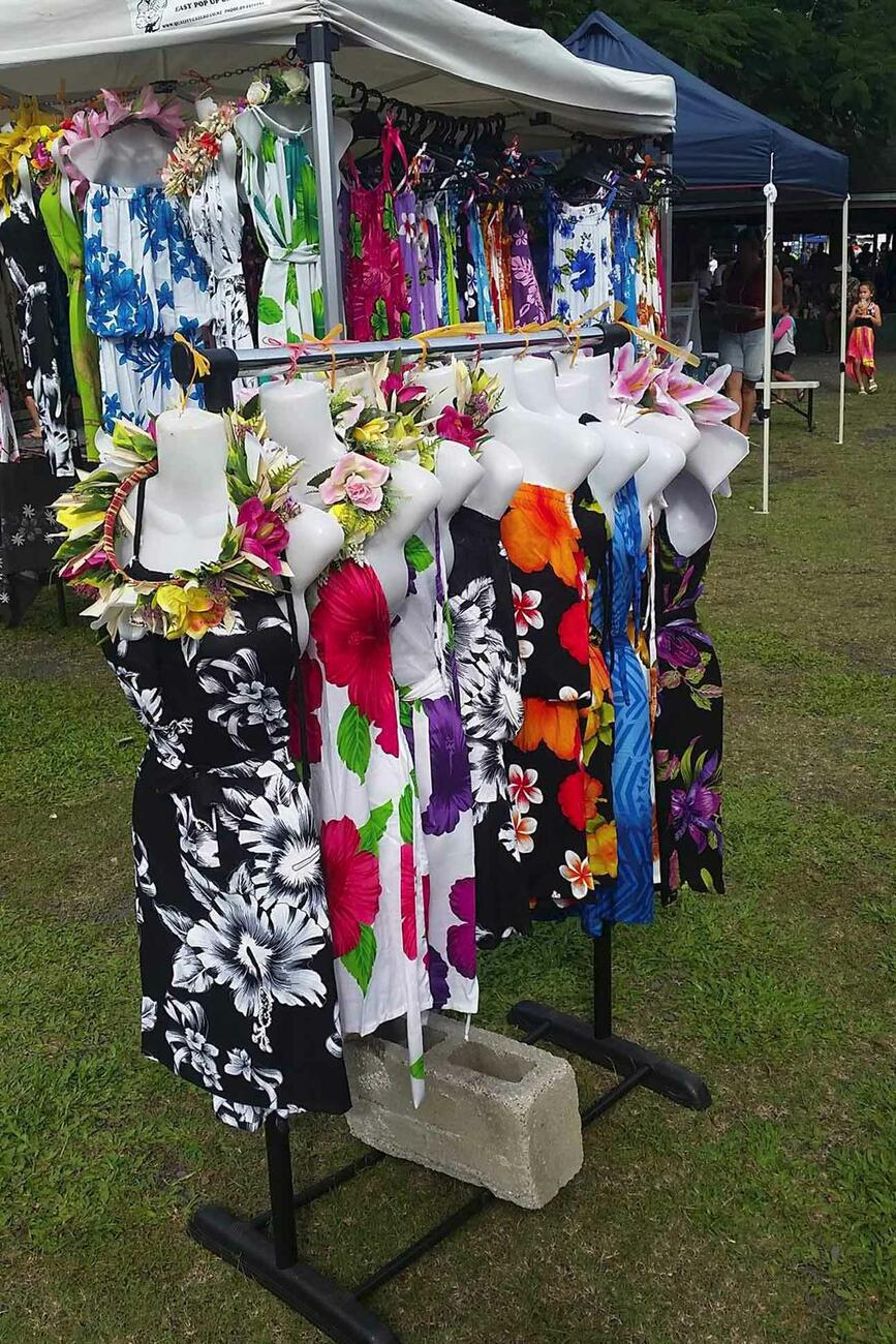Dresses for Sale at the Punaga Nui Market