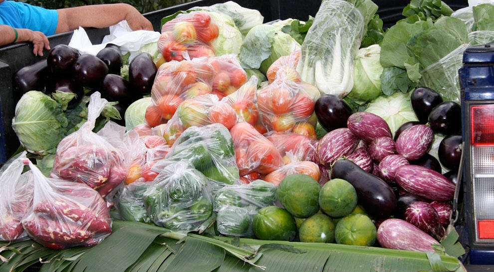 Fresh Produce for Sale off the Back of a Truck at the Punanga Nui Market