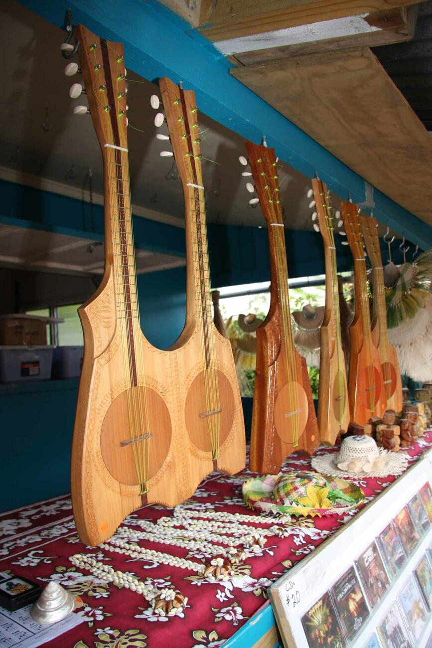 Ukuleles for sale at the Saturday Market